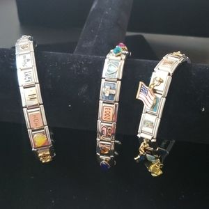 D'linQ Stainless Steel Italian Charms & Bracelets